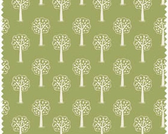 Green Trees - Fox and Friends Fabric Collection by Lewis & Irene (047-2)