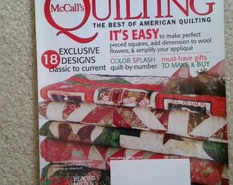 McCall's Quilting Magazine December 2009