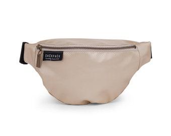 Gold Fanny Pack, Waist Bag, Bum Bag, Faux Leather, Vegan Bag, Zipper Pouch, Hip Bag, Purse Bag, Fanny Belt Bag, Pouch, Waist Pack, Women Bag