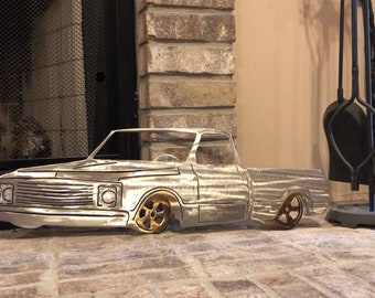 Gentil Metal Art, Chevy Truck, Home Decor, Metal Wall Art, Metal Truck,