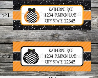 Halloween, Pumpkin Return Address Labels -Sticker -Mailing Label -Deliver to-Address Sticker-Stationery, Holiday Address Label, Address