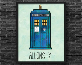 Doctor Who Inspired, Allons-y Tardis Print