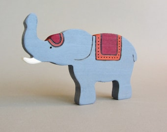 Wooden Elephant Toy Silk Road Waldorf wood Animal