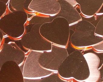 Copper Hearts, stamping blanks, metal blanks, heart blanks, stamping shapes, heart shaped blanks, Valentine blanks, Bopper
