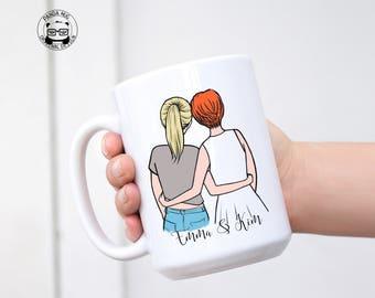 Personalized Best Friend, Soul Sister Mug, Sister Mug, Sister Gift, Best Friend Mug, Best Friends