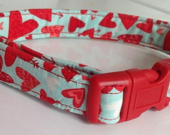 Small Valentine's Day Dog Collar