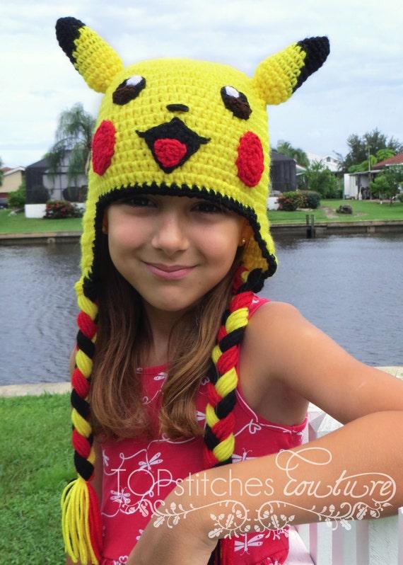 Pikachu Crochet Hat PDF Pattern, Pokemon Go Pattern, Pokemon Hat ...