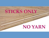 NO YARN; Includes Sticks, PDF Instructions, and Yarn Needle Only.  Kit for Making Your Own 8-sided, 18-inch Mandala