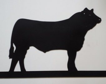 CNC Plasma Cow Metal Sign Powder Coated or Raw Steel