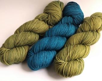 Hand Dyed Sport Weight Yarn, Super Sport, Super Wash Merino Wool/ Nylon, Solids