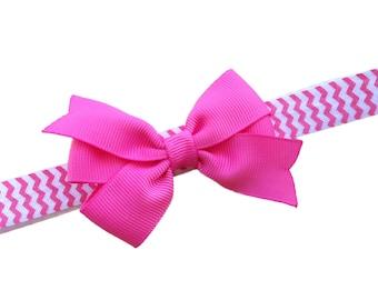 Pink baby headband - baby headband, baby headbands, baby headband bows, newborn headbands, baby girls headbands, headbands baby, baby bows