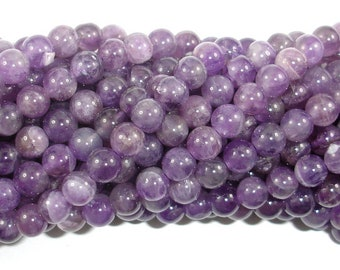 Amethyst Beads, 6mm(6.6mm) Round Beads, 15.5 Inch, Full strand, Approx 62-65 beads, Hole 0.8mm (115054042)