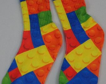 Custom LEGO Blocks Socks Youth