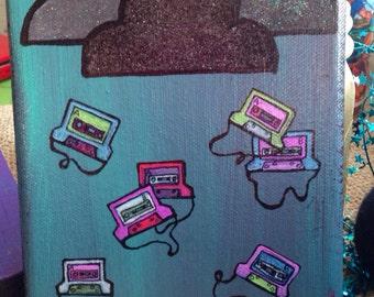 Regnen Mixtapes 5 x 7-Malerei