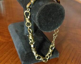 Men's Antiqued Brass Bracelet