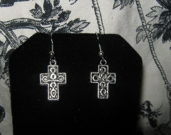 Celtic Design Cross Earrings