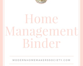 The Ultimate Home Management Binder, Planner, Budget, Habit Tracker, Menu Planner, Project Planner, Weekly Review, Calendar, US Letter