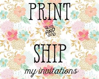 PRINT&SHIP OPTION