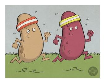 Runner Beans - Illustration Art Print