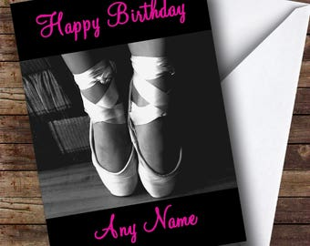 Beautiful Ballet Personalised Birthday Card
