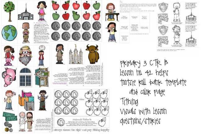 LDS primaria manual 3 CTR B lección 42 diezmo lección ayuda