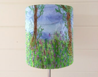Bluebell woodland lampshade