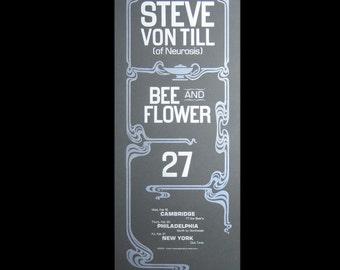 Steve Von Till letterpress gig poster