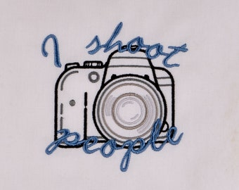DSLR camera I shoot people 4x4 machine embroidery design