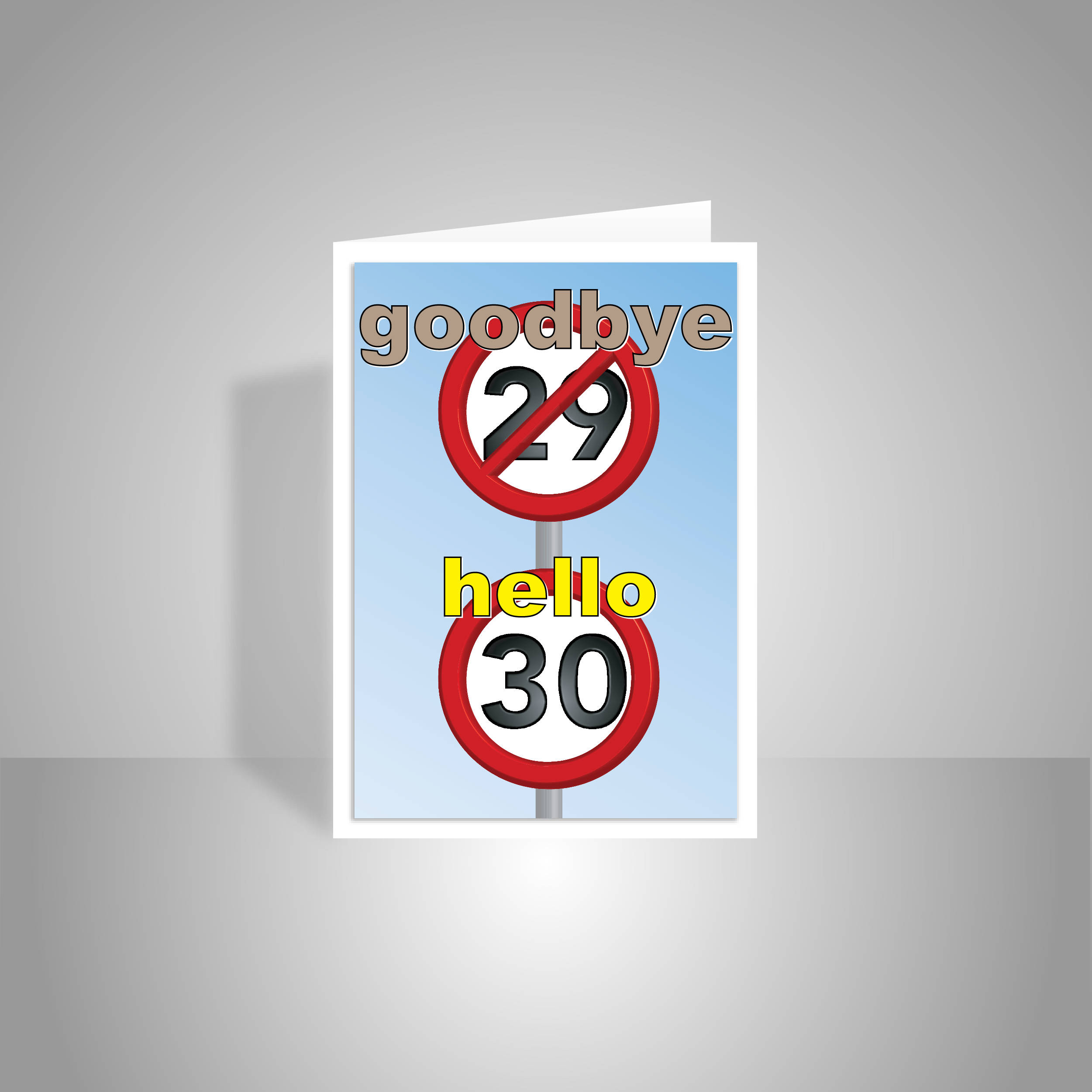 Funny 30th Happy Birthday Card for him for her 30 birthday