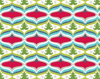 Treelicious - Garland in Red - 1 yard - Blend Fabrics