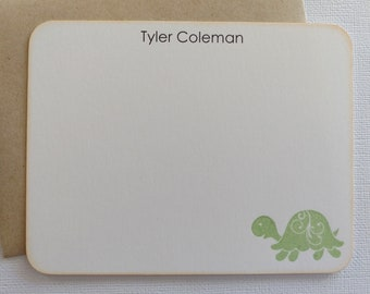 Personalized Baby Thank you Cards / Flat Note Cards - Set of 10