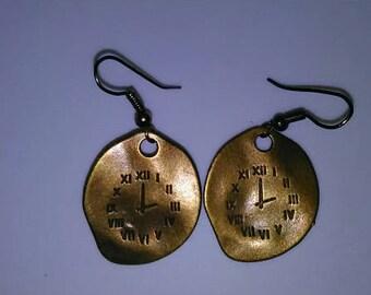 1PC Time Clock Earrings