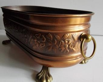 Antique French, vintage planter, succulent planter, Copper decor, vintage copper, flower planter, antique copper, indoor planter, planter