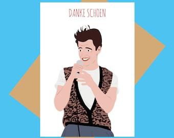 Funny thank you card - Ferris Bueller greeting card - Danke Shoen