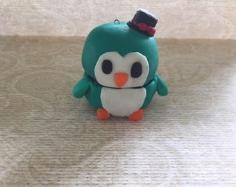 Polymer clay box - Penguin