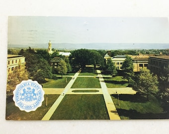 Vintage Postcard Penn State University Campus 1959 State College Pa View from the Library