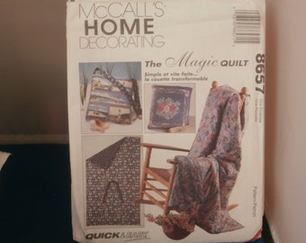 McCall's Sewing Pattern 8657 Magic Quilt Package