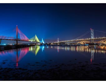 The Forth Crossings Colour, South Queensferry, Scotland