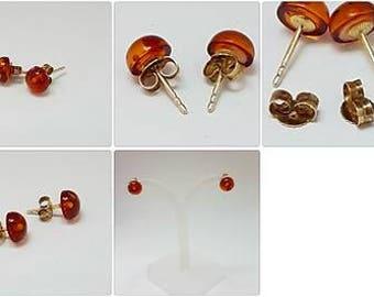 Amber stud earrings amber studs gold amber studs amber studs amber studs earrings honey earrings honey amber earrings cognac amber silver