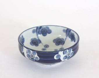 Vintage Blue and White Porcelain Bowl