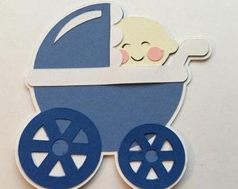 Baby Boy Stroller Die Cut