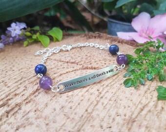 Amethyst and Lapis Lazuli bracelet