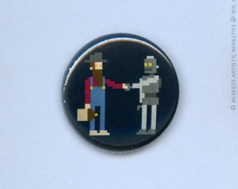 "Hillbilly-Robot Alliance 1"" Pin-Back Button"