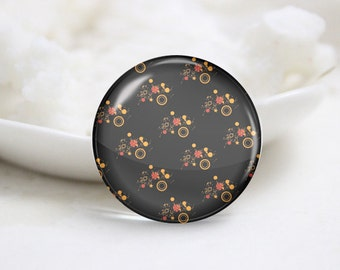 Round Glass Photo Cabochons Photo Glass Cabs-Tiling (P3208)