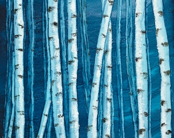 Birch Tree Art - Welcoming the Light - Giclee Print