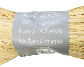 Spool of 50g of raffia vegetable natural beige - natural Twine