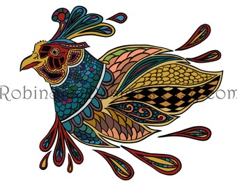 Pheasant Colouring Page 300dpi Printable Colouring For Grown Ups