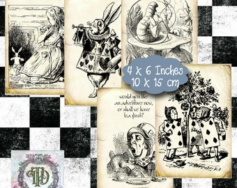 Alice in Wonderland Tags Set 1