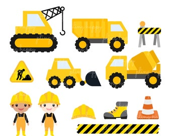 70% OFF Under Construction Cliparts, Under Construction Clipart Graphics, Personal & Small Commercial Use, Instant Download
