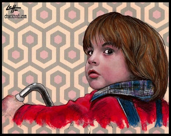 "Print 11x14"" - Danny Torrance - The Shining Jack Nicholson Redrum Murder Horror Dark Art Halloween Stanley Kubrick Serial Killer Dark Art"